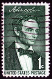 Vintage Abraham Lincoln stamp. Vintage Abraham Lincoln USA 1c postage stamp SG1112 Royalty Free Stock Photo