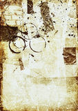 Vintage abstract. Deep layered grunge effects with tape,splatters,coffee stains and surprises vector illustration