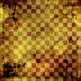 Vintage abstract background. With chequered chess ornament royalty free illustration