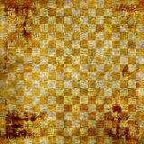 Vintage abstract background. With chequered chess ornament Stock Photography