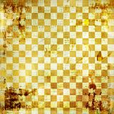 Vintage abstract background. With chequered chess ornament vector illustration