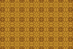 Vintage abstract background of brown tracery in seamless style Royalty Free Stock Images