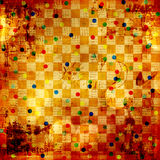 Vintage abstract background with chess ornament Royalty Free Stock Photo