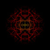 Vintage dark red oriental kaleidoscope background Stock Photography