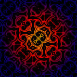 Vintage blue red yellow oriental kaleidoscope background Stock Photo