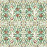 Vintage abstract background tile with floral motif in soft pastel colors Royalty Free Stock Image