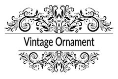 Vintage Abstract Calligraphic Ornament Royalty Free Stock Image