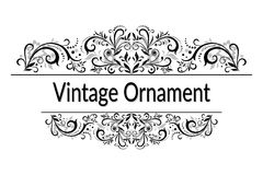 Vintage Abstract Calligraphic Ornament Stock Image