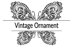 Vintage Abstract Calligraphic Ornament Royalty Free Stock Images