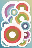 Vintage abstract with circle background Stock Photos