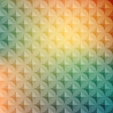 Vintage abstract circle pattern with decorative circle and abstract elements. Vector colorful background.  Retro hipster Stock Photo