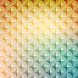 Vintage abstract circle pattern with decorative geometric and abstract elements. Vector colorful background Royalty Free Stock Images
