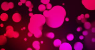 Vintage abstract circular purple, violet, red gradient glitter bokeh flowing on black background, love valentine day. Congratulation greeting  party happy new stock video