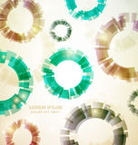 Vintage Abstract Colorful circles Background Stock Images
