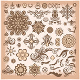 Vintage Abstract Floral Illustration Design Elements for greetin Royalty Free Stock Images