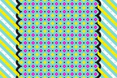Vintage abstract geometric pattern wallpaper. Multicolored background with colorful pattern. Dots and strips Stock Photo