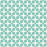 Vintage abstract geometric vector seamless pattern. Turquoise and beige. Vintage background. Stock Image