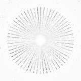 Vintage abstract hipster style sunburst rays graphic halftone te Royalty Free Stock Images
