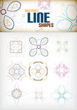Vintage abstract line shapes set for decorations Stock Photo