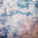 Vintage abstract nature sky with clouds background Stock Images
