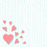 Vintage abstract pattern of hearts. Hand drawn. Valentine's Day Royalty Free Stock Photo