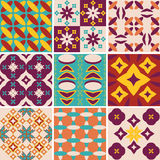 Vintage abstract pattern set Stock Photography