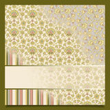 Vintage abstract retro background greeting card Royalty Free Stock Image