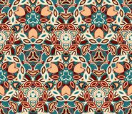 Vintage abstract seamless pattern, background. Composed of colored geometric shapes. Useful as design element for texture and artistic compositions Royalty Free Stock Photos