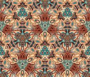Vintage abstract seamless pattern, background. Composed of colored geometric shapes. Useful as design element for texture and artistic compositions Royalty Free Stock Images