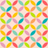 Vintage abstract seamless pattern Circle Style  . Stock Images