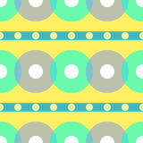 Vintage abstract seamless pattern. Circle. Vector illustration Stock Image