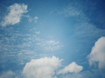 Vintage and abstract with sky and white cloud pattern for background Nature. And Wallpapers royalty free stock images