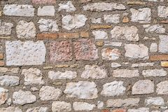 Vintage abstract stone texture of an ancient brick wall Stock Images