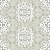 Vintage abstract vector seamless pattern. In subtle shades of white and gray colors for wallpaper background design Stock Image