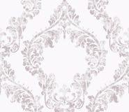 Vintage acanthus decor ornamented pattern Vector. Victorian flourish Royal texture. Flower decorative design. Light pink royalty free illustration