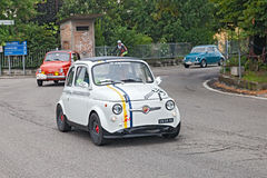 Vintage accordant Fiat 500 Abarth Image stock