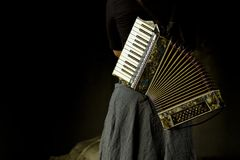 Vintage accordion Royalty Free Stock Photo