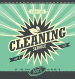 Vintage ad design for cleaning service Stock Photos