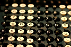 Vintage Adding Machine Keys Royalty Free Stock Image