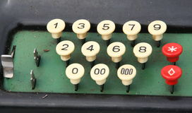Vintage adding machine. Stock Photos