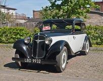 Vintage Adler car. Old vintage Adler automobile parked in Wejherowo during old cars race in Northern Poland Royalty Free Stock Image