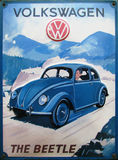 Vintage Advert Of Volkswagen Beetle Royalty Free Stock Images