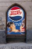 Vintage advertizing of Pepsi Cola stock image