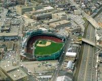 Vintage Aerial Fenway Park, Boston, MA Stock Image