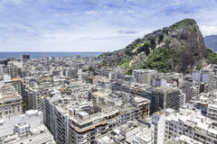 Vintage aerial view of Rio de Janeiro royalty free stock photos
