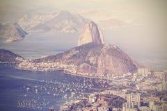Vintage aerial view of Rio de Janeiro, Brazil Stock Photo