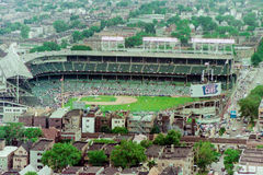 Vintage Aerial view of Wrigley Field Royalty Free Stock Image