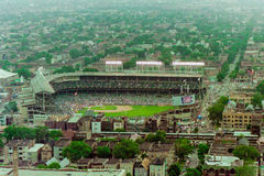 Vintage Aerial view of Wrigley Field Royalty Free Stock Images