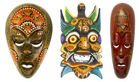 Vintage african mask on a white background Stock Photography