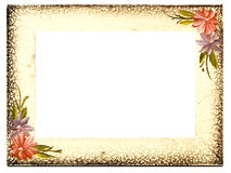 Vintage Aged Floral Frame Stock Photo